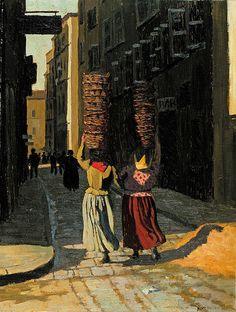 """Félix Vallotton (Swiss, 1865–1925) """"Women carrying baskets in Marseille"""", 1901"""