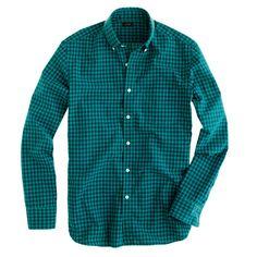 Secret Wash shirt in two-color gingham - washed favorite shirts - Men's shirts - J.Crew