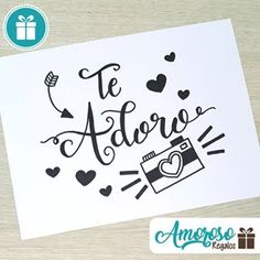 expresa lo que sientes de una forma Diy Birthday, Birthday Cards, Love Phrases, Poster S, Love Messages, Diy Cards, Boyfriend Gifts, Diy Gifts, Diy And Crafts