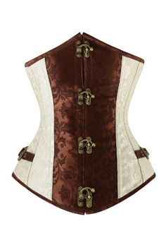 Steampunk Gods JustEmily Brown and Beige Steampunk Underbust Corset