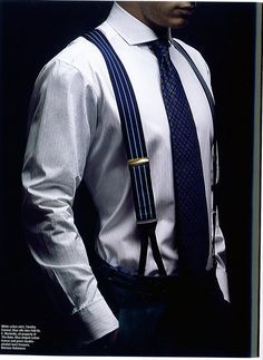 we are so into Suspenders! These are stylish accessories that is an absolute most to take that outfit from bland to uber classy! Check out our array of stylish suspenders. Gentleman Mode, Gentleman Style, Sharp Dressed Man, Well Dressed Men, Suspenders Fashion, Men's Suspenders, Style Masculin, Look Man, Hommes Sexy