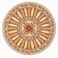 Click to see a larger image for R106 custom floor medallion, inlay, border or parquet.