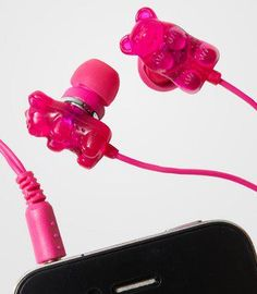 Haribo Bears earphones <3 Home Camera, Bear Ears, Portable Charger, Office And School Supplies, Gummy Bears, Bud, Gift Guide, Things That Bounce, Headphones