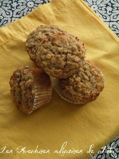Muffins santé à l'avoine et aux bananes