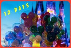 12 Days Until Christmas / Christmas Countdown / Disney World
