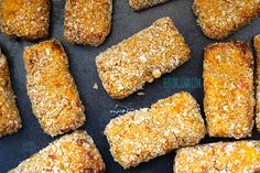 Sweet Potato, Lentil and Carrot Croquettes - Left out cheese and egg and put some breadcrumbs into the mix before making into croquettes.