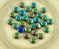 ✔ What's Hot Today: 40pcs Metallic Green Iris Lentil Czech Glass Beads Flat Round One Hole 8mm https://czechbeadsexclusive.com/product/40pcs-metallic-green-iris-lentil-czech-glass-beads-flat-round-one-hole-8mm/?utm_source=PN&utm_medium=czechbeads&utm_campaign=SNAP #CzechBeadsExclusive #czechbeads #glassbeads #bead #beaded #beading #beadedjewelry #handmade