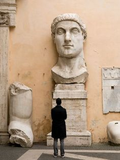 Head of Constantine, Rome (Photograph by Bob Krist) seen on National Geographic