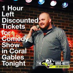 Comedy Show Discounted for Tonight in Coral Gables at Open Stage Club (@openstageclub) with Have Nots Comedy Productions (@havenotscomedy). USE PROMO CODE MIAMICOMEDY5 for $5 Off all tickets including VIP (drinks and appetizers included)  #Miami #miamicomedy #coralgables #coralgablesmiami #coralgablesevents #coralgablesnights #coralgablesnightlife #miaminightlife coralgablescomedy