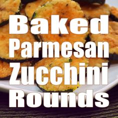 Baked Parmesan Zucchini Rounds are the BEST way to use up summer zucchini! This simple, addictive side dish is quick & easy using just TWO ingredients! Low Carb Recipes, Diet Recipes, Vegetarian Recipes, Cooking Recipes, Healthy Recipes, Zucchini Rounds, Zucchini Side Dishes, Side Dishes Easy, Vegetable Dishes