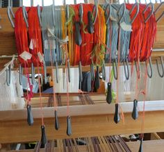 Gangewifre Weaving: Supplementary Warp - putting on the pattern warp