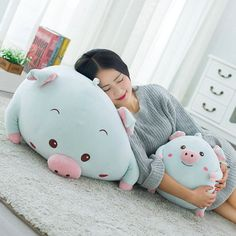 ==> [Free Shipping] Buy Best 30/43cm 2017 New Style fat Pig Plush Toys blue pig cloth doll Stuffed Soft comfy Plush pillow Cushion birthday gift Drop Shippin Online with LOWEST Price | 32756817303