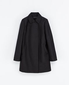 Black cotton trench #coat by Zara  #fall #winter #fashion