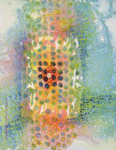 "Lynda Hoffman-Snodgrass - ""Dreamtime Journey"" watercolor 14 x 10"""