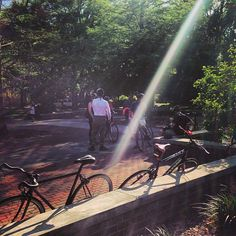 Evening bike ride in Savannah - perfect in the Spring!