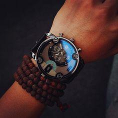 Mode JIS Hohe Qualität Blue Ray Braun Lederband Stahl Shell Männer Männlichen Quarzuhr Armbanduhren Uhr