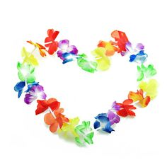 20pcs/lot Hawaiian leis Party Supplies Garland Necklace Colorful Fancy Dress Party Hawaii Beach Fun