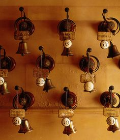 servants bells! @ Cliveden House (Berkshire)