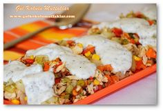 TAVUKLU PATATES SALATASI Mashed Potatoes, Chicken, Meat, Ethnic Recipes, Food, Whipped Potatoes, Smash Potatoes, Essen, Meals
