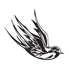 "Style and Apply Swallow Wall Decal Size: 25"" H x 31"" W, Color: Violet"