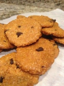 Pumpkin protein cookies!  So ready for fall to be here.  Gluten Free and clean eating cookies.  Great for a snack or quick grab and go breakfast!