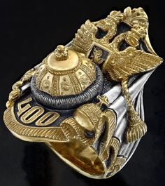 jeweler Vladimir Mikhailov The grand imperial ring dedicated to celebrating the 400th anniversary of the Romanov dynasty that springs from the accession to the throne of Mikhail Romanov in 1613