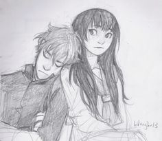 Chitanda & Houtaroh | by Burdge | Hyouka | Anime