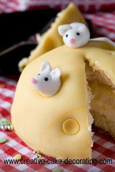 Käse & Mäuse - Kuchen , ist doch der Wahnsinn! Zuckersüß herzallerliebst , könnte ich nie anschneiden! ☺