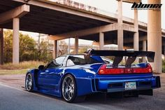 Brent's 1991 ACURA NSX Custom - Aston Martin Monte Carlo Blue with Sorcery GT300 JGTC wide body kit.. JGTC stands for Japan Grand Touring Car Championship