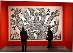 """Keith Haring: 1978-1982 , a playful show at the Brooklyn Museum, includes """"Untitled"""" (1982)."""