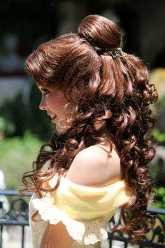 Belle hairdo :)... I want to be a Disney Princess!