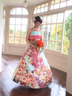 kimono wedding dress