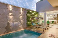 Mais um ângulo dessa piscina que deu o que falar! 😍 Quem sabe assim a gente chama o calor de volta, né?! 😂 . . .  #arquitetura #arquiteturadesign #projetonosso #cg #piscina #lindo Instagram, Outdoor Decor, Design, Houses, Gardening, Home Decor, Outdoors, Activities, Pools