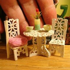 how to: 1/24th scale bistro table and chairs