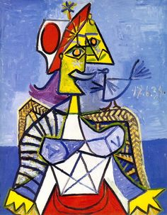 Pablo Picasso. femme assise. 1939