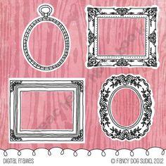 Illustrated Clip Art Antique Frames