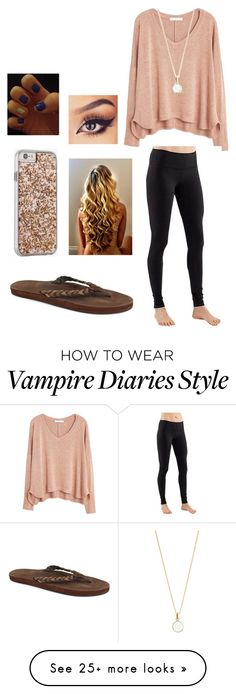 """""""Watching Vampire Diaries..."""" by softball1218 on Polyvore featuring MANGO, lululemon, Rainbow Sandals, Case-Mate and Accessorize"""