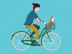 Jitensha - Bicycle illustration by Nicholas Hendrickx (ukaaa)