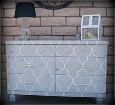 muebles furniture estampados patterns quatrefoil diseño design diy miraquechulo