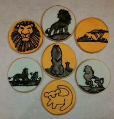 Custom Lion King cookies.