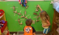 Play-Based Classroom: Toilet Paper Tube Marble Run Full Day Kindergarten, Kindergarten Activities, Learning Activities, Kids Learning, Learning Spaces, Inquiry Based Learning, Project Based Learning, Learning Centers, Head Start Classroom