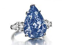 "The 13.22 carat Fancy Vivid Blue Flawless IIb diamond ring, ""The Blue"";"