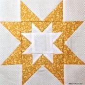 Rising Star Quilt Block - via @Craftsy