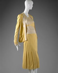 Ensemble 1927, French, Made of silk