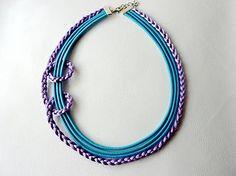 Tyrkysovo fialový náhrdelník
