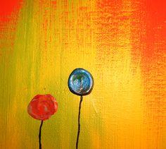 Poppy Field Abstract Art Zachary Brown Art | WALLSEV.
