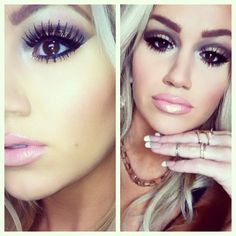 I so want that lip color, but the eyes are too much.