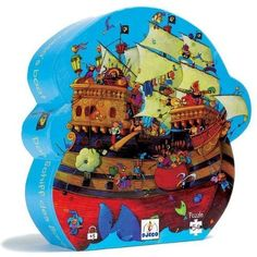 54-Piece Puzzle Features Fun And Fanciful Pirate Artwork - Djeco / Shaped Box Puzzle, Barbarossa's Boat by Djeco. $33.20. Djeco / Shaped Box Puzzle, Barbarossa's BoatFun and learning - nothing brings them both together like a puzzle! Children learn pattern recognition, practice fine motor skills and have a great time doing them both. Djeco takes the fun one step further with their Shaped Box Puzzles. No dull square box here - one look at the fun shaped box and your child wil...