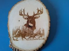 Natural Bass Wood Buck and Herd Wall Hanging by GiftWorks on Etsy