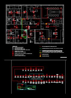 Fire alarm system - office building in AutoCAD Electrical Panel Wiring, Electrical Circuit Diagram, Fire Hydrant System, Firefighter Photography, Fire Sprinkler System, Fire Alarm System, Cad Blocks, Autocad, How To Plan